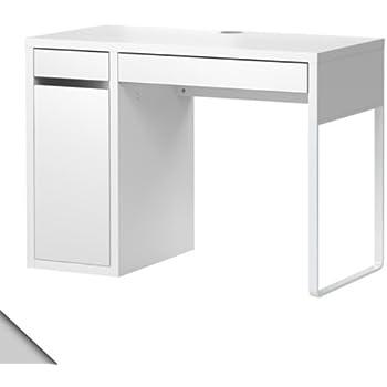 Charmant Ikea Micke Desk White W/ Shelf Inside