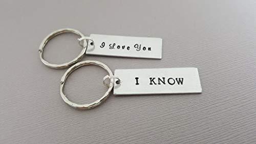 Star Wars Keychain Set - I Love You I Know - Couples Key Chain Set