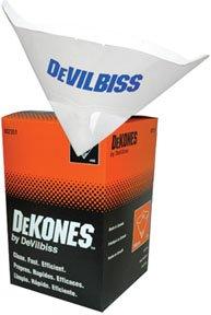 DeVilbiss 802351 190 Micron Fine Nylon Paint Strainer, (Box of 100) ()