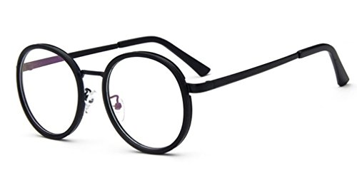 Flowertree Unisex LD2965 Thin Rim Metal Round Eyeglasses (full - Metal Rim Eyeglasses Full