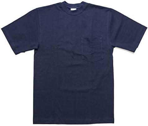 302 半袖Tシャツ マックスウェイト ポケット TEE ネイビー S