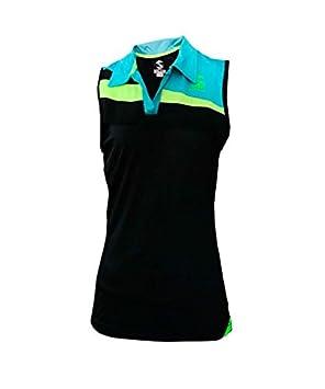 Softee - Camiseta Sisa Padel Risk Mujer Color Negro/Azul/Amarillo ...