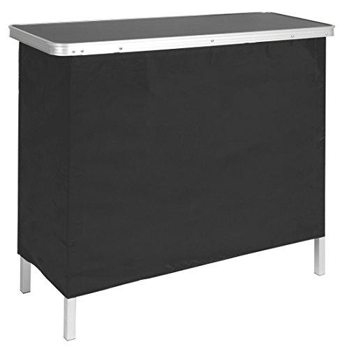 Portable High Top Pop Up Bar Table W/ Carrying Case Outdoor Backyard Pool Party (Portable Bar Cart Outdoor Patio Furniture)