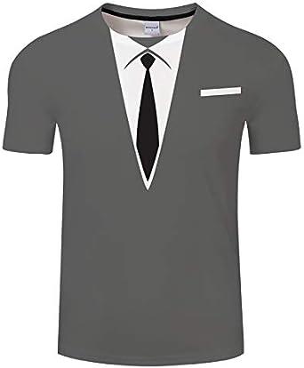 Mujer/Hombre Camiseta de Manga Corta 3D Imprimir Camisetas 3D Tops Camisa Corbata 3XL: Amazon.es: Ropa y accesorios
