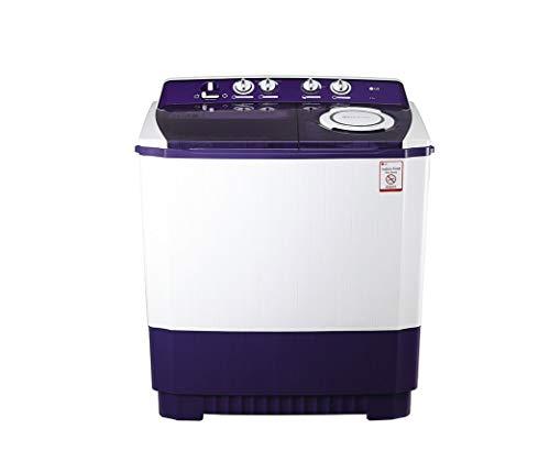 LG 9.5 kg Semi Automatic Top Loading Washing Machine  P1565R3SA, Purple, Wind Jet Dry