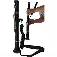 Ortola 1407-001 - Cordón clarinete, mosquetón metálico, color negro