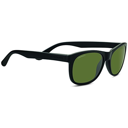 7e65e738a8 Serengeti 8667 Sunglasses Eyewear Anteo Satin Polarized 555nm Sunglasses,  Black