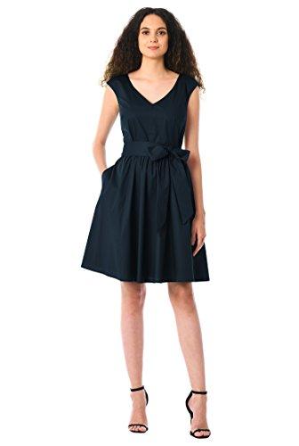 eShakti Women's Marilyn dress L-12 Regular Deep navy for $<!--$54.95-->