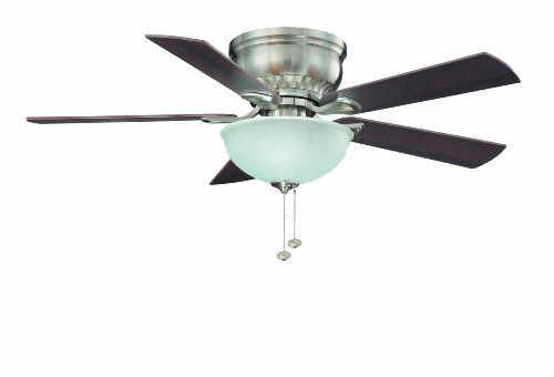 - Litex CSU44BNK5C1 Crosley Collection 44-Inch Ceiling Fan with Five Reversible Maple/Walnut Blades and Single Light Kit with Non-Swirl Alabaster Glass