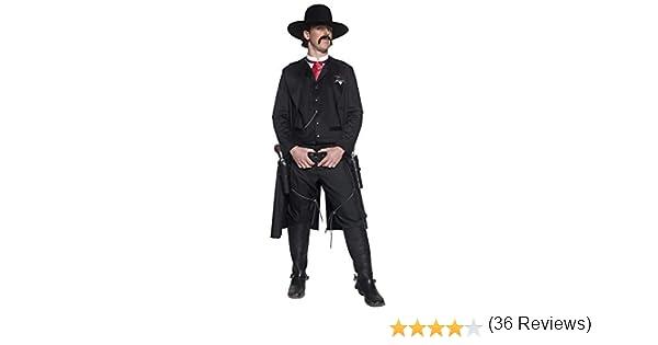 Smiffys-36156M Policía Disfraz de Sheriff del Oeste auténtico, con ...