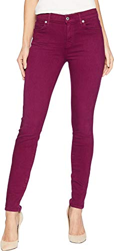 7 For All Mankind Women's Ankle Skinny in Sangria Sandwashed Twill Sangria Sandwashed Twill 27 28 (7 Jeans All Skinny Mankind)