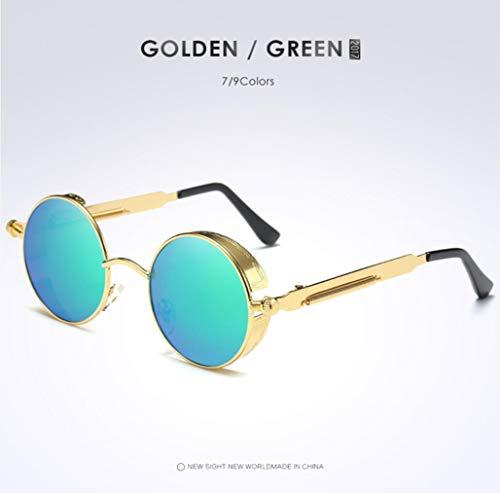 Hombres De Los Ultravioleta goldframegreen De Vidrios De Opcionales Los UV400 Goldframepowder Ciclo Polarizaron Las Gafas Protección Sol C8nY8dpW1
