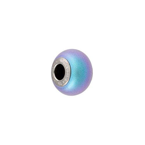(Swarovski 5890 14mm Crystal Iridescent Light Blue BeCharmed Pearl Large Hole Bead )