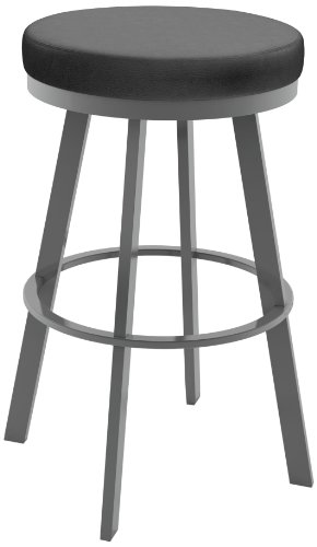 (Amisco Swice Swivel Metal Counter Stool, 26-Inch, Magnetite)