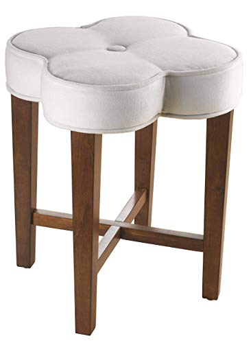 (Hillsdale Furniture 50958 Clover Vanity Stool, White)