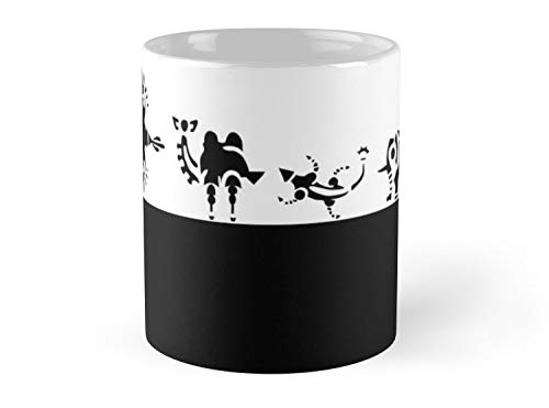 Breath of the wild: Divine beasts loading screen black 11oz Mug - Made from Ceramic - Great gift for family and friends (Breath Of The Wild First Divine Beast)