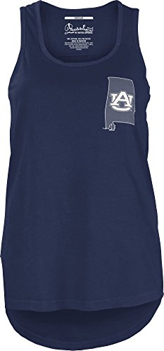 Auburn Tigers Square - Three Square by Royce Apparel NCAA Auburn Tigers Junior's Comfort Colors Tank Top, Medium, Navy