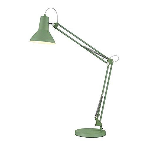 Bürolampe, Schreibtischlampe grün Design von Karwei - Tischleuchte, verstellbare Schreibtischlampe, Lampe mit verstellbarem Arm, Augenfreundliche Leselampe, Arbeitsleuchte, Bürolampe, Nachttischlampe, Designer-Lampe Farbe: grün/olive