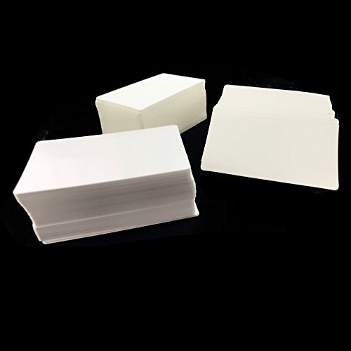 - 300PCS BcPowr White Blank Message Card Paper Postcard Message Card Word Card Business Card Message Gift Tags.(White)