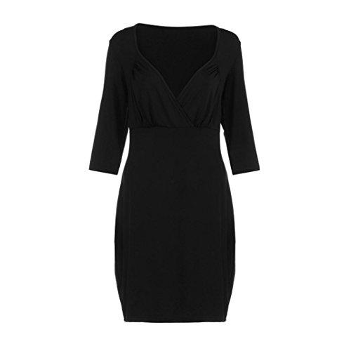 vestidos de mujer L XXXXL profundo fiesta larga noche Negro grande de manga OverDose V talla Uw4qHAfBB