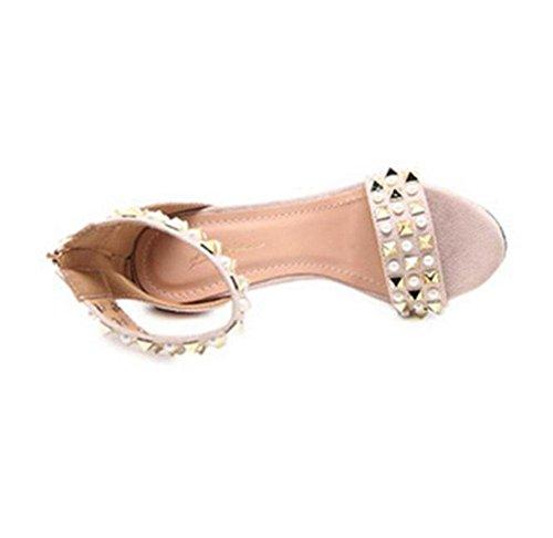 Con Mujer Imitación De Remaches Diamantes Meili Para Sandalias 1 0f5wWq