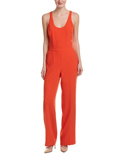 Trina Turk Womens Golda Jumpsuit, 4, Orange