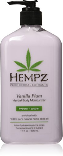 isturizer, Light Purple, Vanilla Plum, 17 Fluid Ounce (Hempz Pure Herbal Extracts)