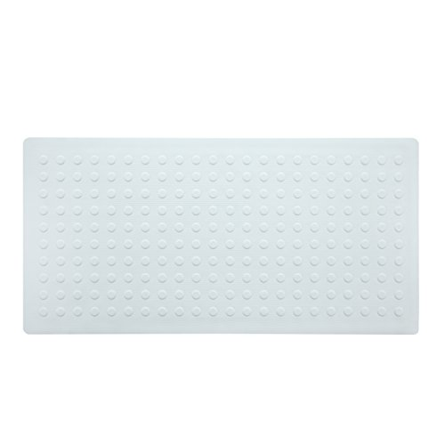 SlipX Solutions White Extra Long Rubber Bath Safety Mat Adds Non-Slip Traction to Tubs & Showers - 30% Longer than Standard Mats! (220 Suction Cups, 36'' Long, Great Non-Slip Coverage) by SlipX Solutions