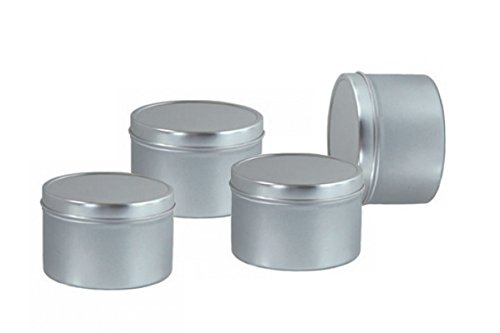 (Deep Metal Tins Box With Lid Candle Container 2oz (6pcs))