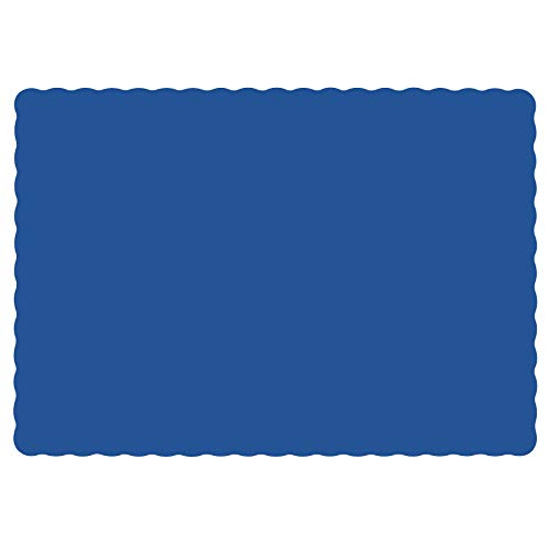 Hoffmaster Navy Blue Paper Placemats Scalloped Edge | 50 per Pack
