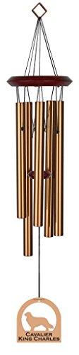 Chimesofyourlife E4349 Wind Chime, Cavalier King Charles/Bronze, 19-Inch