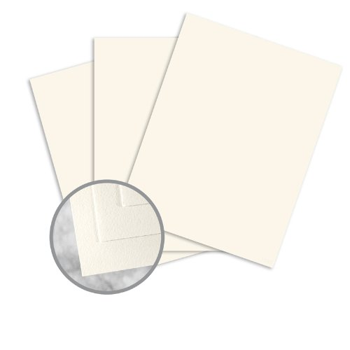 CRANE'S CREST Natural White Paper - 35 x 23 in 24 lb Writing Wove 100% Cotton Watermarked 500 per Ream by Neenah