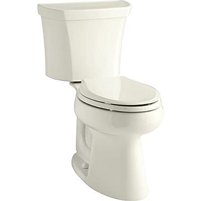 Kohler K-3979-RA-96 Highline Comfort Height 1.6 gpf Toilet, Right-Hand Trip Lever, Biscuit