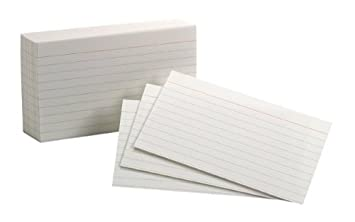 how to print on 3x5 index cards