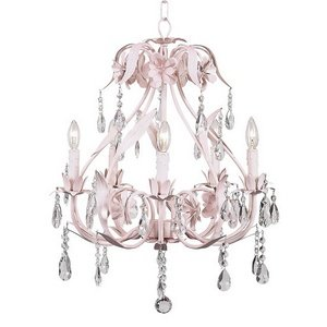Jubilee Collection 7906 5 Arm Ballroom Chandelier, Pink
