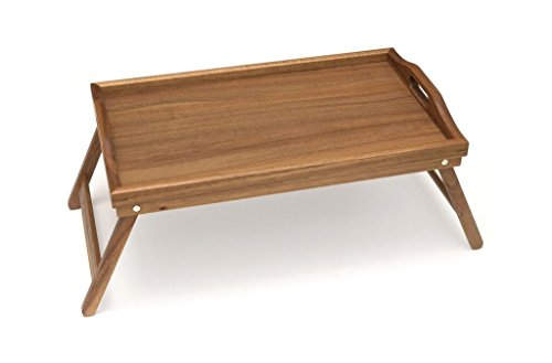 Lipper International 1163Acacia bandeja de cama con patas plegables, 50.2x 30.5x 24.1cm
