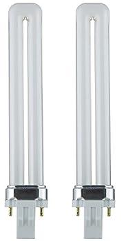 Sunlite PL13/SP65K 13-Watt Compact Fluorescent Plug-In 2-Pin Light Bulb, 6500K Color (2 Pack, 6500K - Daylight)