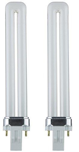 Sunlite PL13/SP65K 13-Watt Compact Fluorescent Plug-In 2-Pin Light Bulb, 6500K Color (2 Pack, 6500K - Daylight) ()