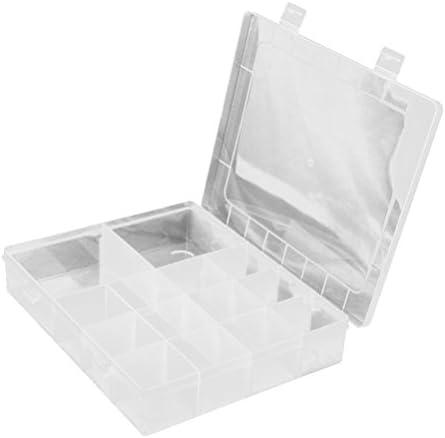 Tinksky 14-red de almacenamiento plástico envase casos joyero organizador con separadores removibles (transparentes): Amazon.es: Bricolaje y herramientas