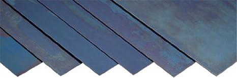 "Blue Tempered Spring Steel Shim 0.008/"" x 6.00/"" x 50/"" Length"