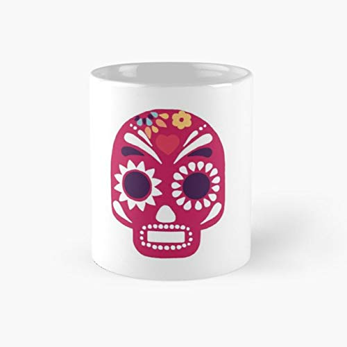 Diadelosmuertos Mexico Mexican Festival Dayofthedead Halloween Sticker Phonecase Pink Flower Decoration Skull Pinkskull Decorate Girl Boy Celebrated 110z -