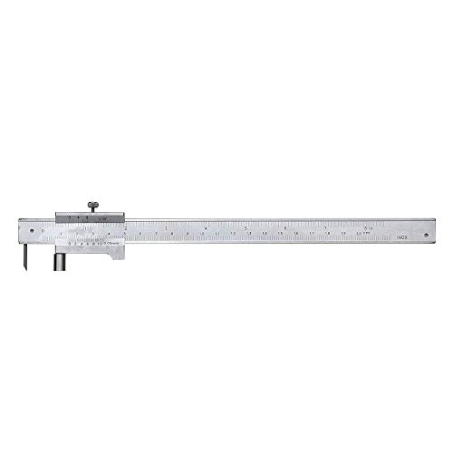 ZOYOSI 0-200/250/300/400/500mm Measure Scale Ruler Scribing Caliper 0.05mm Accurate Parallel Line Digital Vernier Caliper with Leather Bag Woodworking Marking Gauge - 300mm