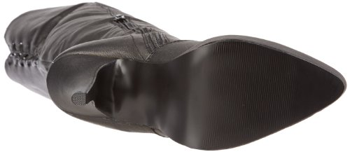Blk P Stivali Pleaser unisex Leather Schwarz adulto ngSRvq0