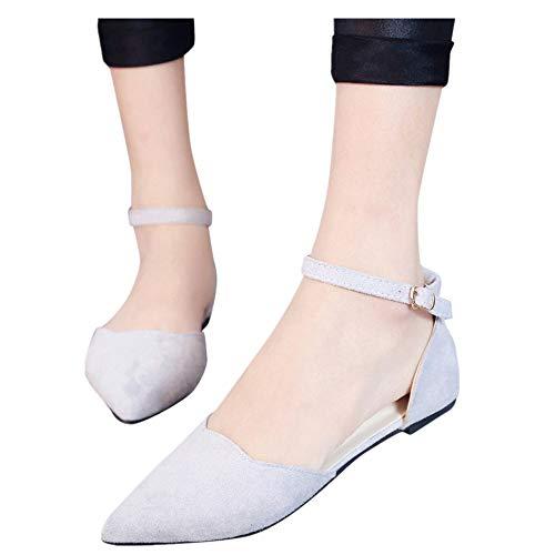 Shoes for Women Round Toe Platform Strap Flat Heel Buckle Leopard Sandals (White -4, -
