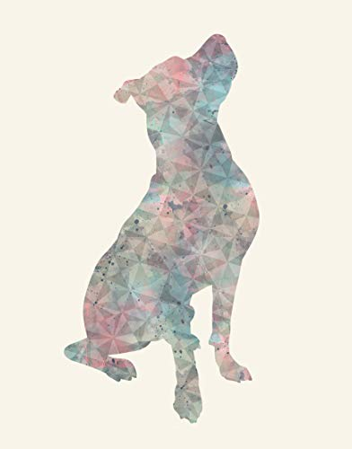 (Pitbull Wall Art Available in Various Sizes and Colors - Pitbull Decor For a Home, Nursery or Office - Pit Bull Watercolor Print - A Perfect Gift for a Pitbull Mom or a Pitbull Dog Lover)