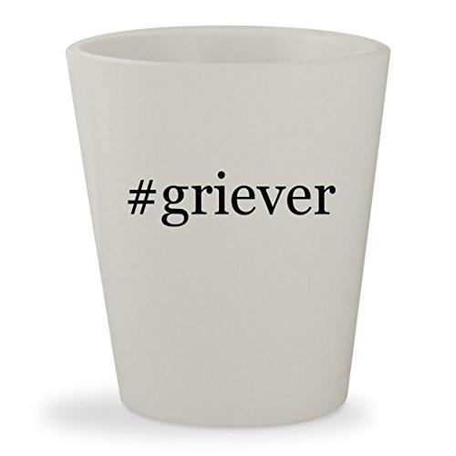#griever - White Hashtag Ceramic 1.5oz Shot Glass