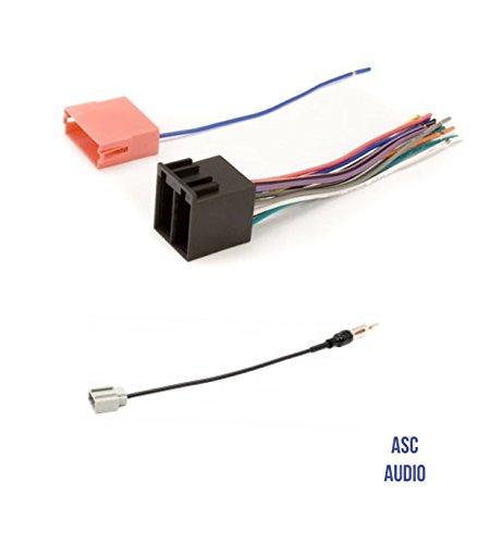 ASC Audio Car Stereo Radio Wire Harness and Antenna Adapter to Aftermarket Radio for 09-14 Hyundai Genesis Sedan (no coupe), 09-10 Hyundai Sonata w/NAV, 09 Kia Amanti, 09 Kia Borrego, 09-10 Kia Optima ()