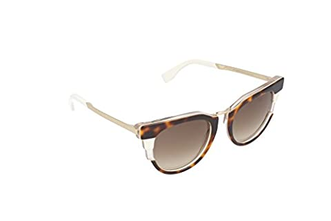 Fendi Women's Bold Sunglasses, Havana Beige Gold/Brown, One (Fendi Occhiali Da Sole)