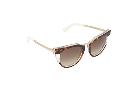 Fendi Women's Bold Sunglasses, Havana Beige Gold/Brown, One - Fendi Gold Sunglasses