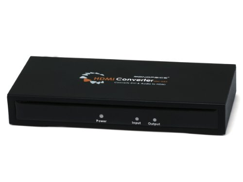 Pdif Digital Coaxial - Monoprice 105369 DVI & S/PDIF Digital Coax Optical TOSLINK Audio to HDMI Converter